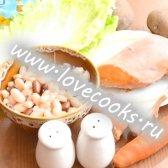 Квасолевий суп з копченою куркою