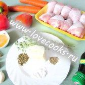 Курка в меду, запечена в духовці з овочами