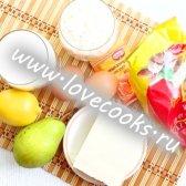 Лимонний кекс з грушами і мигдалем