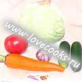 Вегетаріанський капустяний салат в лаваші