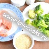 Запіканка з сьомги, рису і брокколі
