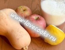 Десерт з гарбуза і яблук